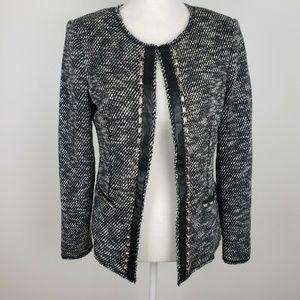 Cache Open Studded Blazer Tweed